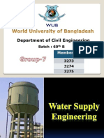 water supply engineering. ce 704. world university of bangladesh. chapter 7
