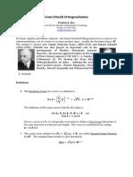 Gram Schmidt Orthogonalization