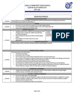 global lesson plan template explanation
