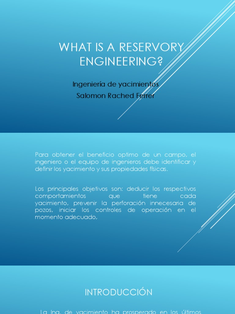 What is a Reservory Engineering