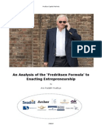 An Analysis of the 'Fredriksen Formula' to Enacting Entrepreneurship (v2)