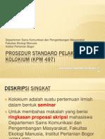 Prosedur Standard Pelaksanaan Kolokium Kpm 497