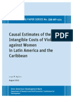 Causal Estimates of the Intangible Costs of Violence Against Women in Latin America and the Caribbea