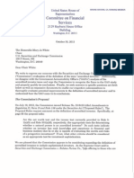 Letter From Congressman Garrett to SEC Chair White Regarding the Definition of Accredited Investor (Oct. 2013)