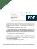 Echeverría - 21 tesis sobre el Tercer Entorno, Telépolis y la vida cotidiana