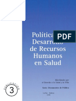 2009 MSD Política de desarrollo de recursos humanos en salud