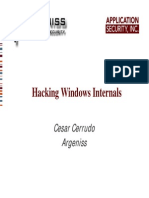 Hacking Windows Internals