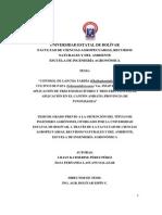 """""""CONTROL DE LANCHA TARDÍA (Phythoptorainfestans), EN EL"""