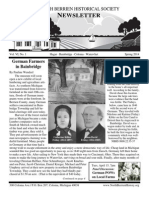Spring 2014 Newsletter - North Berrien Historical Society