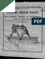 Boxing Made Easy - Pupil of Mendoza and Humphreys 1865
