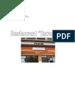 Gestiune Alimentara Si Catering - Proiect Restaurant Raresoaia