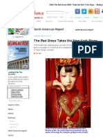 The Red Dress Takes the New York Stage -- Beijing Review