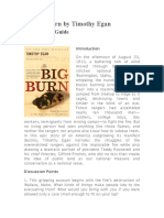 The Big Burn Discussion Guide