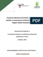 Industrias Extractivas y Desarrollo Subnacional - Peru 2013