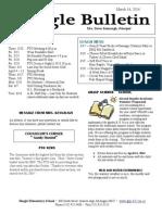 Beagle Elementary School Newsletter March 14, 2014