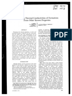 SPE-4171-PA Predicting Thermal Conductivities of Formations From Other Known Properties