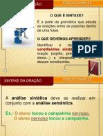 Slide - Sintaxe Da Oraaafo - Peraodo Simples