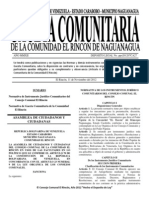 Gaceta Comunitaria No. 001 Extraordinaria 11-11-12