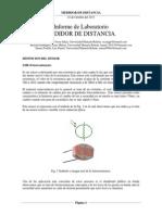 Informe de Laboratorio de Sensores - Medidor de Distancia