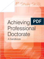Nancy-Jane Lee - Achieving Your Professional Doctorate