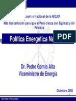Politica Energetica Nacional
