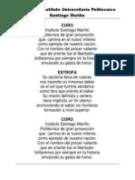 Himno Del Instituto Santiago Mariño