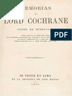 Memorias de Lord Cochrane, Conde de Dundonald. 1863