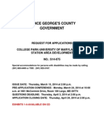 Request for Applications - College Park-UMD Metro Station Area