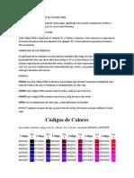 TEORÍA SOBRE LOS CÓDIGOS DE COLORES HTML