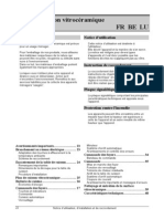 Notice utilisation vitrocéramique