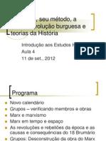 04 Marx, Seu Metodo e Teorias