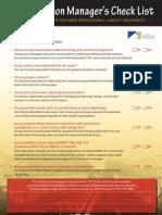 AEC CM Checklist