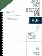 Nancy, Jean-Luc - Le Discours de La Syncope