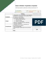 6 - Grade de avaliação criteriada