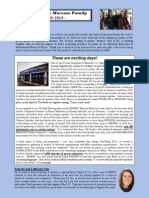 Marcum Family/Ministry Newsletter - March 2014