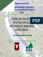 DISEÑO DE ZANJAS DE INFILTRACION. CRITERIOS DE INGENIERIA HIDROLOGICA