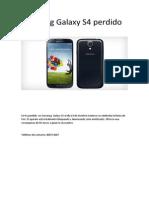 Samsung Galaxy S4 Perdido