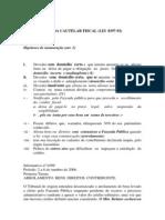 Processo Tributario - Cautelar Fiscal