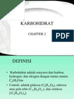 Chapter 2 Karbohidrat
