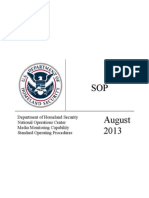 Media Monitoring Procedures Dhs Noc Mmc Sop 7-30-13 Version 3 1 Foia Redacted