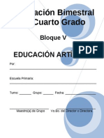4to Grado - Bloque V - Educación Artística