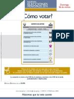 Afiche Cómo votar NEM 2014