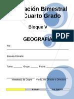 4to Grado - Bloque V - Geografía