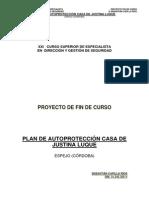 Plan de Autoproteccion Casa de Justina Luque - 2011