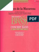 (Concert Band) Virgen de La Macarena -Arr Calvin Custer