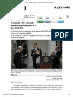 La Jornada_ Chomsky_ EU e Israel, Amenazas Principales a La Paz Mundial