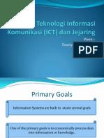 ICT Teknologi Informasi Komunikasi Dan Jejaring Week1rev