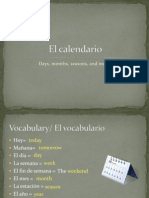 PowerPoint for Calendar and Seasons in Spanish