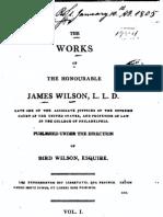 James Wilson - The Works of James Wilson, Vol 1