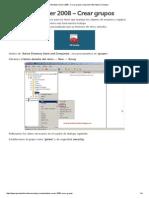 022 Windows Server 2008 - Crear Grupos _ Aprende Informatica Conmigo